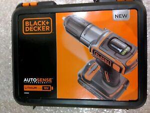 Auction New Black + Decker ASD184K Cordless Drill Kit 18v Case Battery Charger