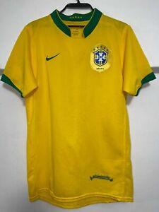 Vintage Nike Brazil National team home football shirt jersey men's size XS