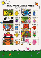2016 MR MEN and LITTLE MISS STAMPS SMILERS COLLECTORS SHEET LS101 Mint