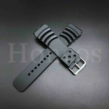 20 22 24 MM Black Silicone Rubber Watch Band Strap Fits Seiko Diver 2019 Modle