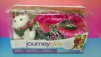 Journey Girls Pet White Dog Playset Bed Collar Leash Fits American Girl Doll