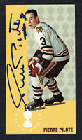 Pierre Pilote #145 signed autograph auto 1994 Parkhurst Tall Boy Hockey Card