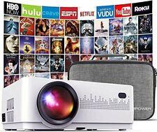 DBPOWER mini Beamer 6000 Lumen, Heimkino Beamer, Unterstützt Full HD 1080P Neu