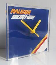 Raleigh Burner BMX retro bike wall clock polished edged acrylic 150x150x5mm
