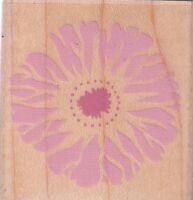 "purple flower inkadinkadoWood Mounted Rubber Stamp 2 x 2""  Free Shipping"