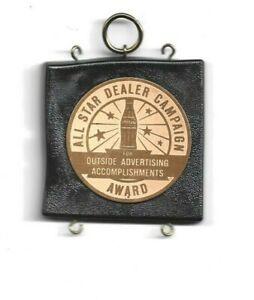ALL STAR DEALER CAMPAIGN AWARD COCA-COLA OUTSIDE DEALER ACCOMPLISHMENTS
