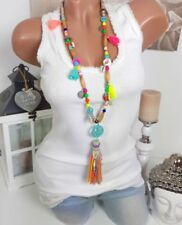 Modeschmuck-Halsketten & -Anhänger für Damen mit Perlen-Hippie