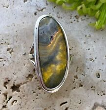Signed Bumble Bee Jasper Sterling Silver Ring. Size 9.5 | Women's Rings | Navajo