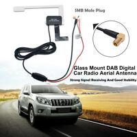 In Car Radio Antenna Digital DAB+ DAB Antenna Aerial SMB Glass Mount