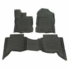 19 thru 20 Ranger OEM Ford Tray Style Molded Rubber Floor Mat Set 4-pc CREW CAB