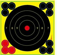 6 inch Self-adhesive Bullseye Reactive Shooting Targets (pack of 25)