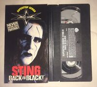WCW - Sting: Back In Black (VHS, 1999) NWO WWF WWE NWA RARE NON RENTAL