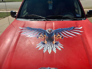 Wing Out American Flag Attack Eagle #2 Sticker decal Fit All Car Truck Golf Cart