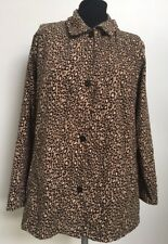 Goodclothes Collections Top Blouse S-Brown Tan Animal Leopard Print-Ultrasuede