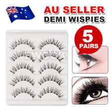 5 Pair Demi Wispies Natural Long Thick Soft Fake False Eyelashes Handmade Makeup