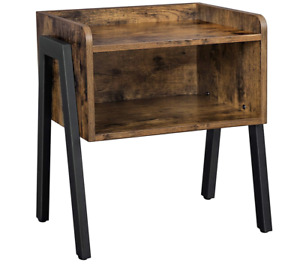 Retro Rustic Vintage Bedside Table Nightstand Stackable End Table Chic Decor