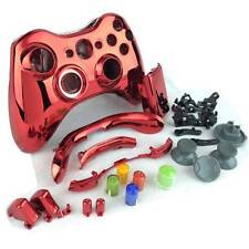 Xbox 360 controller Shell Kit Full Set - Controller Housing Shell Chrome Red