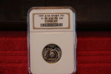 1999 S Silver Quarter Proof Set NGC PF69 Ultra Cameo
