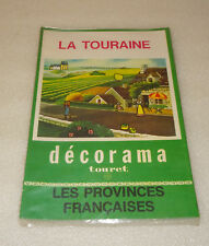 ANCIEN DECORAMA TOURET, LA TOURAINE, DECALCOMANIES, LES PROVINCES FRANCAISES