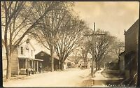 RPPC Real Photo Postcard ~ Poestenkill NY ~ Main Street ~ Rensselaer County