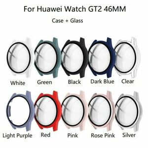 For HuaWei Watch GT 2 Protective Case Frame Protector+ Glass Bumper Full Cover