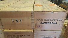 Vintage wood explosive box