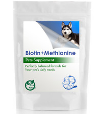 High Potency Biotin & Methionine (60 Tablets - Dogs & Cats) Skin and Fur Health