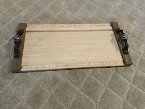 "21"" by 10.5""  Bamboo Grilling and Serving Tray"