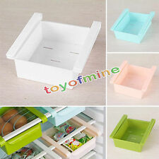 Kitchen Refrigerator Storage Rack Fridge Freezer Shelf Holder Pull-out Drawer