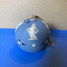 More details for wedgwood jasperware pomander blue floral girls