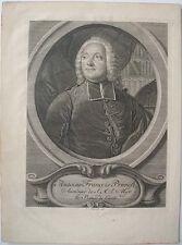 L'abbé Antoine Francois Prevost auteur français romancier a 1746 gravé PORTRAIT