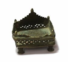 INDIAN OLD VINTAGE BEAUTIFUL HAND CARVED UNIQUE BRASS LORD KRISHNA STAND