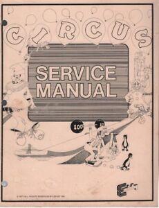 Circus 1977 Exidy Arcade Service Manual 090418DBE4