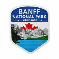 Banff National Park Embroidered Iron on Sew on Patch Canada Souvenir Travel