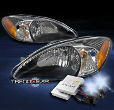 FOR 2000-2007 FORD TAURUS OE STYLE REPLACEMENT HEADLIGHT HEADLAMP BLACK W/8K HID