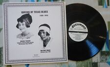 Bessie Tucker Ida May Mack LP Queens of Texas Blues 1928-29 VG++/M-