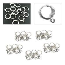 50PCS DIY Handmade Jewelry Findings Sterling Silver Lever Back Drop Hoop Earring