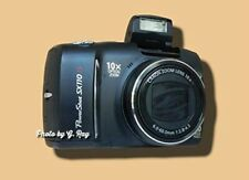 CANON SX110 IS BLACK-MECHANICALLY RECONDITIONED-10X ZOOM-LARGE SCREEN-EASY HOLD