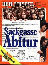 """""""Der Spiegel"""" Nr. 22 von 1975, Titelgeschichte: Sackgasse Abitur, Thomas Mann"""