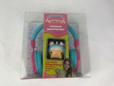 eKids - Smooshy Mushy FASHION Over-the-Ear Headphones  BITSY BUNNY CLIPS TO WIRE