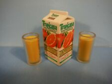 BARBIE KITCHEN LITTLES TROPICANA ORANGE JUICE & DRINKING GLASSES