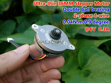 Micro 36MM Stepper Motor 0.9 degree 6V 0.3A 2-phase 4-wire Double ball bearing