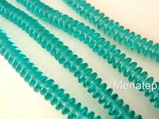 50  6 mm Czech Glass Rondelle Beads: Teal