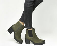 Womens Vagabond Green Suede Zip Ankle Boots UK Size 3 * Ex Display
