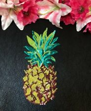 New Color Sequin Pineapple Embroidered Iron On Fashion Patch Large DIY Jacket