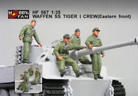 Hobby Fan 1:35 Scale Waffen SS Tiger I Crew (Eastern Front) Resin Kit HF-567