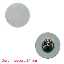 10 Pin Rohlinge 24 mm - Neu - Blankopins Metall Button Badge Pin Anstecker 0811