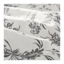 IKEA ALVINE KVIST Duvet Cover Set GRAY WHITE FLORAL TOILE QUEEN KING NEW FREESH