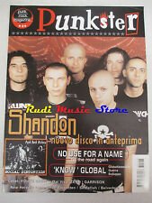rivista PUNKSTER 0/2003 Shandon No Use For A Name Social Distortion  No cd