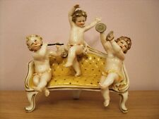 ROYAL VIENNA PORCELAIN MUSICAL PUTTI GROUP ON SOFA BEE HIVE SHIELD CONTINENTAL